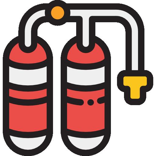 Монтаж порошкового пожаротушения