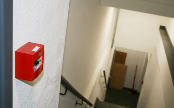Смонтированная система пожарной сигнализации