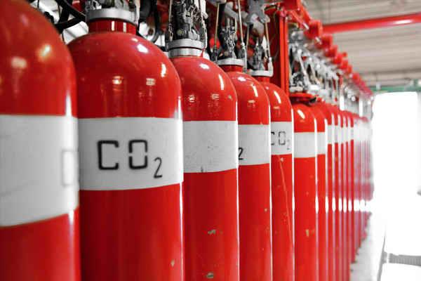 Система пожаротушения на углекислом газе
