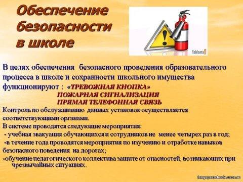 Инструкция по правилам пожарной безопасности в школе